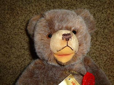 """Hermann Original Teddy Bear Tag Germany Jointed Open Mouth 12"""" Toy"""