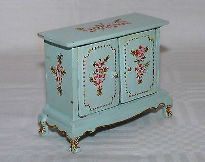 1/12th Scale Dolls House Antique Style Hand Painted Cabinet