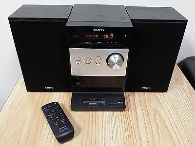 Sony CMT-FX300i Micro HiFi Component System W/ Remote AM/FM CD Aux In iPod Dock