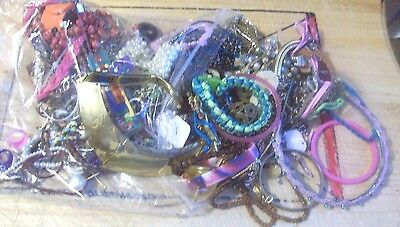 3.5 Pounds Of Jewelry Lot Use, Resale Or Use For Crafting