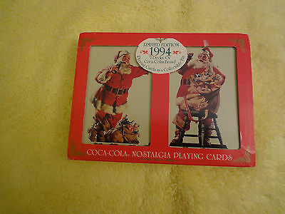 Coco-Cola Santa Nostalgia Playing Cards 1994 - 2 decks in presentation box