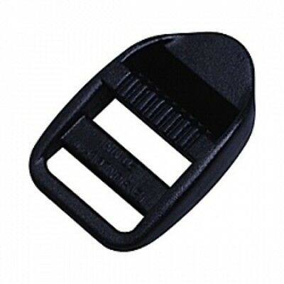 Black plastic 3 bar slide, ladder lock, ladderloc. takes 25mm strap. Bag of 1000