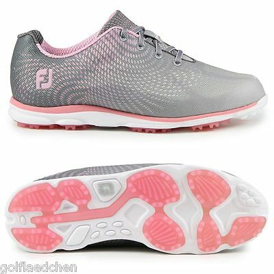 FootJoy emPOWER Damen Golfschuhe, 37 (US 6,5) - Grey/Pink - NEU - UVP 145€ SALE