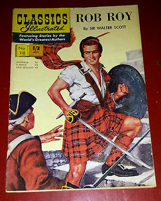 Classic Illustrated Rob Roy  From 1950'sno 118 Cond Good