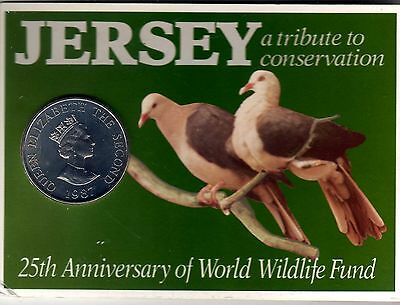 jersey 1987 £2.00 unciorculated coin in pack