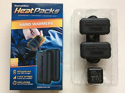 ThermaCELLHeat Packs Hand Gloves Pocket Warmers USB 2 PACK Size SMALL