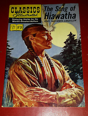 CLASSIC ILLUSTRATED NO 57 , THE SONG OF HIAWATHA COST 1/3d