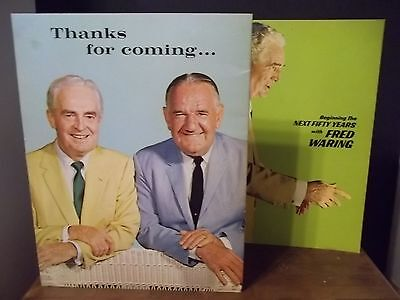 """Set of Two Fred Waring Books """"Beginning the Next Fifty Years""""Thanks for Coming"""
