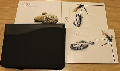 Saab 95 9-5 Handbook Owners Manual Wallet Audio Navigation 2005-2009  T1751