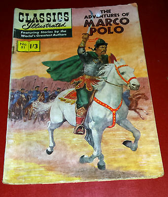 Classics Illustrated The Adventures Of Marco Polo No 81