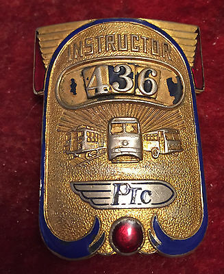 PTC Bus and Railroad Instructor Badge Hallmarked S E EBY CO PHILADELPHIA PA