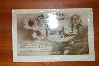 1925 Boy Scout Birthday postcard with verse - very good condition