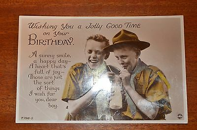 1950 Boy Scout Birthday postcard with verse - very good condition