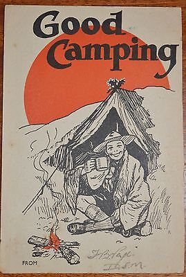 Boy Scout Xmas postcard - Scout Shop series No. 4401 - in good condition