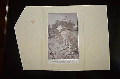 Early Boer War / Baden Powell (Boy Scout) Xmas card -  in good condition