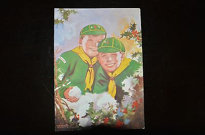 1948 Boy Scout / Wolf Cub Xmas card - Scout Shop No.4908 - in good condition