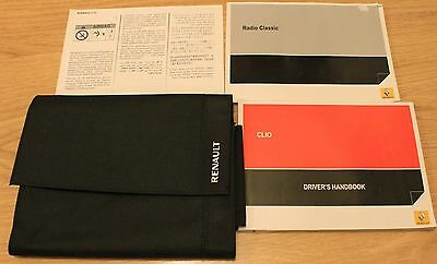 Renault Clio Tce Dci Handbook Owners Manual Wallet Service Book 2012-2016 T1735