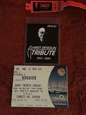 Led Zeppelin (02 Concert 2007 )  Rare!  Rehearsal Pass + Show Band & Ticket's
