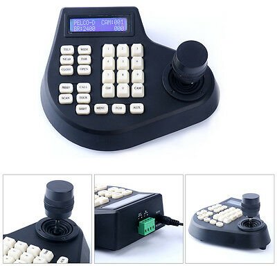 3 Axis LCD Screen Display oystick Keyboard Controller CCTV PTZ Camera US-AM New