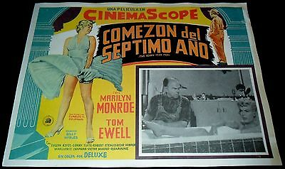 1955 The Seven Year Itch VINTAGE MEXICAN LOBBY CARD Marlyn Monroe Bill Wilder A