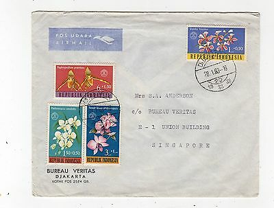 Indonesia: 1963 Air Mail Cover To Singapore (C24673)