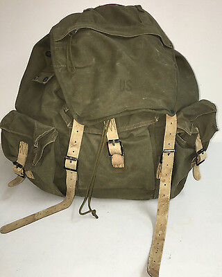 Us Gi Vietnam 1963 Od Rucksack M-1952 Type I Mountain Special Forces Used