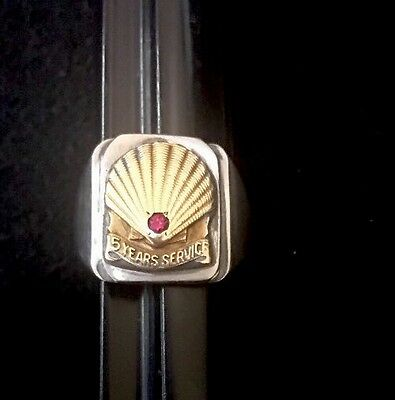 Vintage Shell Oil Service Award Ring Size 9