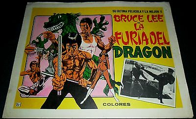 1979 Fury of the Dragon ORIGINAL LOBBY CARD Bruce Lee KUNG FU The Green Hornet