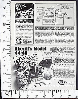 1980 COLT 44-40 Win cal SHERIFF'S MODEL Sngl Act Army revolver Magazine Ad 4207a