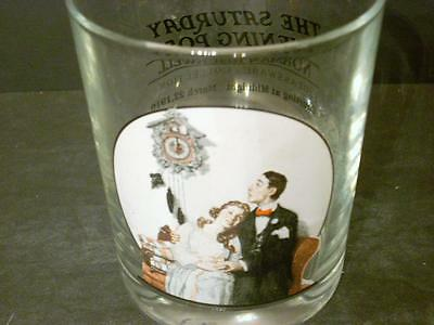 "Norman Rockwell Saturday Evening Post ""courting At Midnight"" Tumbler Glass(J9)"