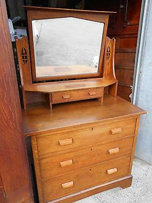 Arts & Crafts Antique Oak Dressing Chest by Heal & Son London