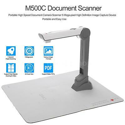 Mini High Speed A4 Document Book Photo Scanner Camera Scanister 5.0MP USB X9T1