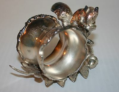 Victorian Silver Plated Napkin Ring Unnamed BUSHY TAILED SQUIRREL