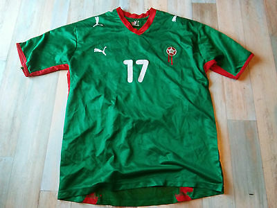 Maillot FOOT PUMA EQUIPE DU MAROC N°17 CHAMAKH TAILLE/L/D6 TBE