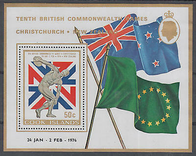XG-A179 COOK ISLANDS IND - Olympic Games, 1974 British Commonwealth MNH Sheet