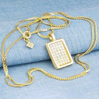 """CZ PENDANT Curb Chain 30"""" NECKLACE Jewelry"""