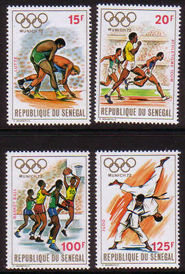 XG-A230 SENEGAL IND - Olympic Games, 1972 Munich 1972 Athletics MNH Set