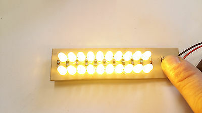 20 LEDs super bright yellow/warm white lamp assembled PCB board for 9V battery