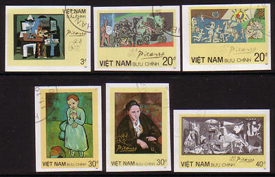 XG-A362 PAINTINGS - Vietnam, 1987 Picasso, Imperf., Used CTO Set