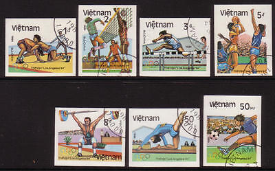 XG-A370 OLYMPIC GAMES - Vietnam, 1984 Los Angeles Usa Imperf. Used CTO Set