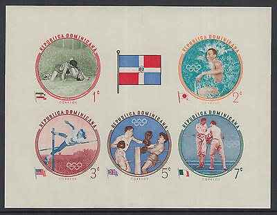 XG-A441 DOMINICAN REP. - Olympic Games, 1960 Flag, Imperf. MNH Sheet