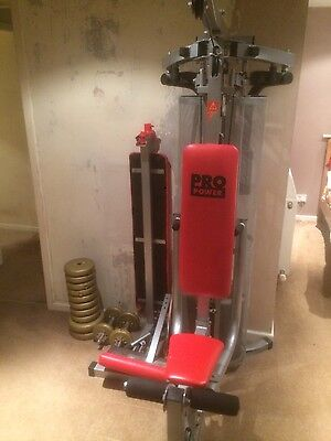 pro power home gym with dumbbells