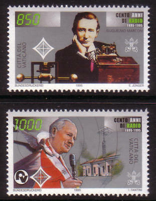 XG-A501 VATICAN CITY - Radio, 1995 Marconi Centenary Of The Invention MNH Set