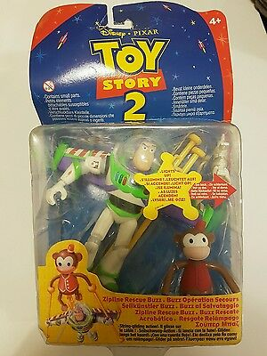Rare 1999 ZIPLINE RESCUE BUZZ PIXAR TOY STORY 2 DISNEY Damaged packaging