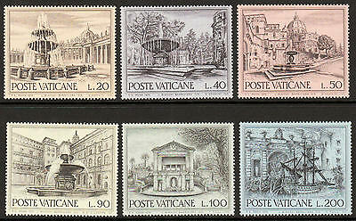 XG-A552 VATICAN CITY - Building, 1975 Europ. Architectural Heritage Year MNH Set