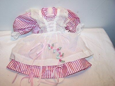 American Girl Samantha Birthday Dress, Lacey Pinafore, and Rosebud Circlet