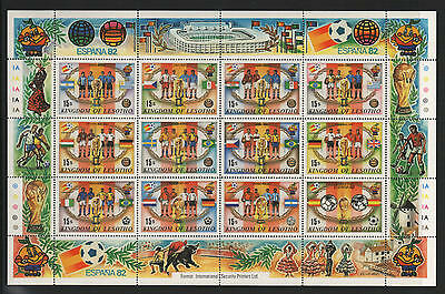 XG-A750 FOOTBALL - Lesotho, 1982 Spain 82 World Championship MNH Sheet