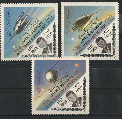 XG-A810 YEMEN - Space, 1963 Exploration, President John F. Kennedy MNH Set