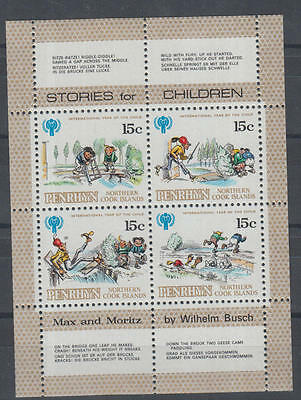 XG-A825 PENRHYN IND - International Year Of The Child, 1979 15 Cent MNH Sheet