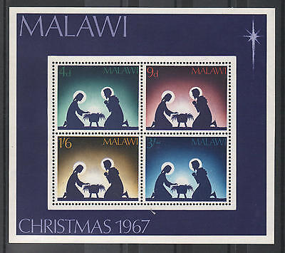 XG-A826 CHRISTMAS - Malawi, 1967 Nativity Scene MNH Sheet